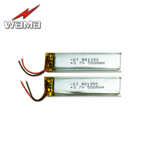 4pcs/lot 801350 500mAh 3.7V Rechargeable Lithium Polymer Batteries for Bicycle rear Tail Light Digital Products