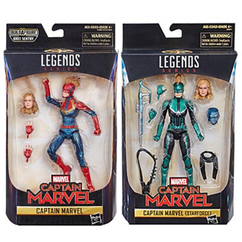 Avengers Endgame Legends Series Captain Marvel PVC Action Figure Collectible Model Dolls ToyAvengers Endgame Legends Series Captain Marvel PVC Action Figure Collectible Model Dolls Toy