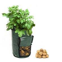 1 шт. тканые тканевые мешки для выращивания картофеля, садовые горшки, горшки для растений, сумки для выращивания овощей, хозяйственные дома, садовые полиэтиленовые сумки