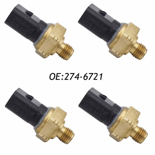 US 87 4 8 OFF 4PCS 274 6721 2746721 Pressure Sensor Fits Caterpillar Heavy Equipment In Pressure Sensor From Automobiles Motorcycles On