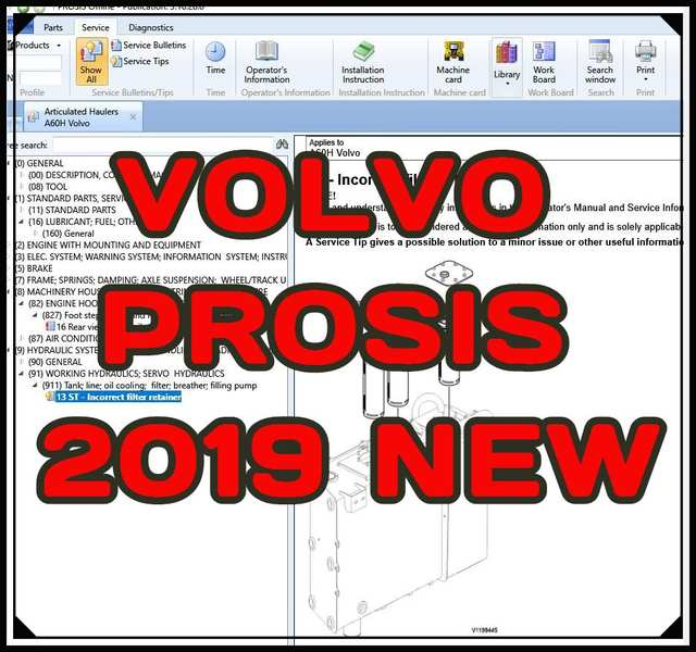 for Volvo Construction Equipment PROSIS 2018 (Parts+Repair)+install video
