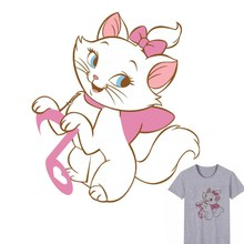 Buy 23x20cm Cartoon Kitty Cat Iron On Stickers Washable Appliques A-level Patches Heat Transfer For T-shirt DIY Accessory Clothing directly from merchant!