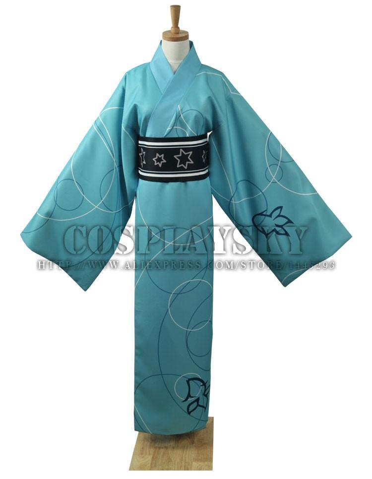 Vocaloid Hatsune Miku Project DIVA Yukata Kimono Kaito Cosplay Costume_01
