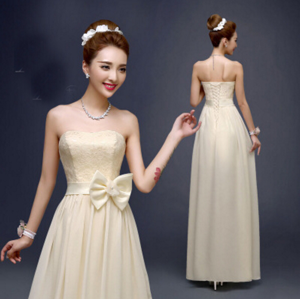 champagne cheap plus size long a line bridesmaid chiffon strapless braidsmaid dresses under 50 2016 for wedding guests h3309