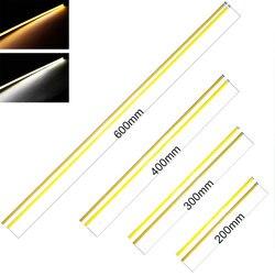 Bombillas 60 cm 40 cm 30 cm COB Chip lámpara Barra de luz LED tira bombilla 20 W DC 12 V DRL Flexible luces de coche blanco frío cálido 600*6mm
