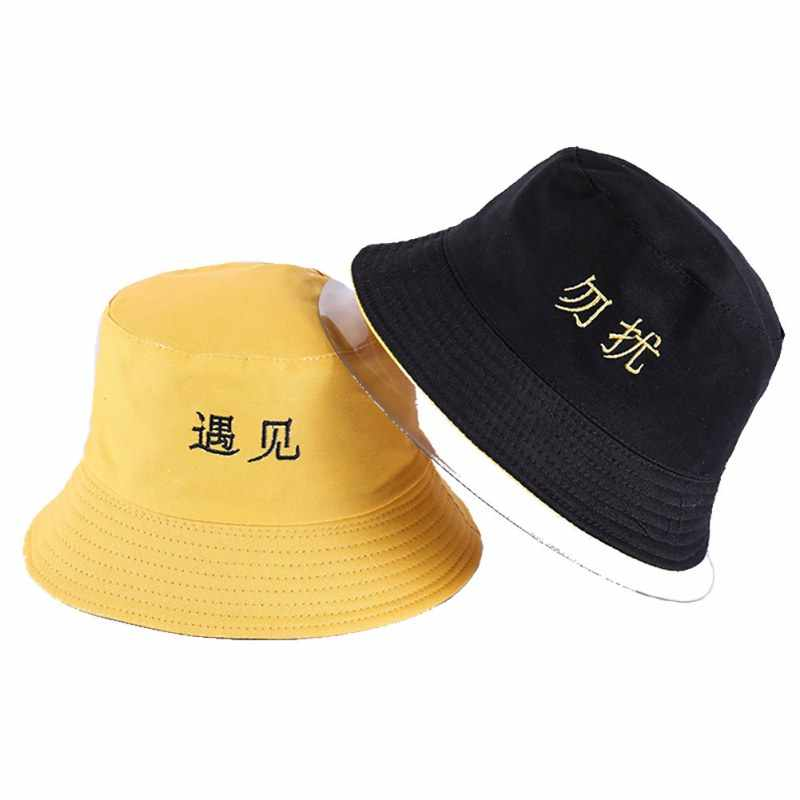 Detail Feedback Questions about Casual Unisex Flat Bucket Hats Basin ... 68ec22a2d65a