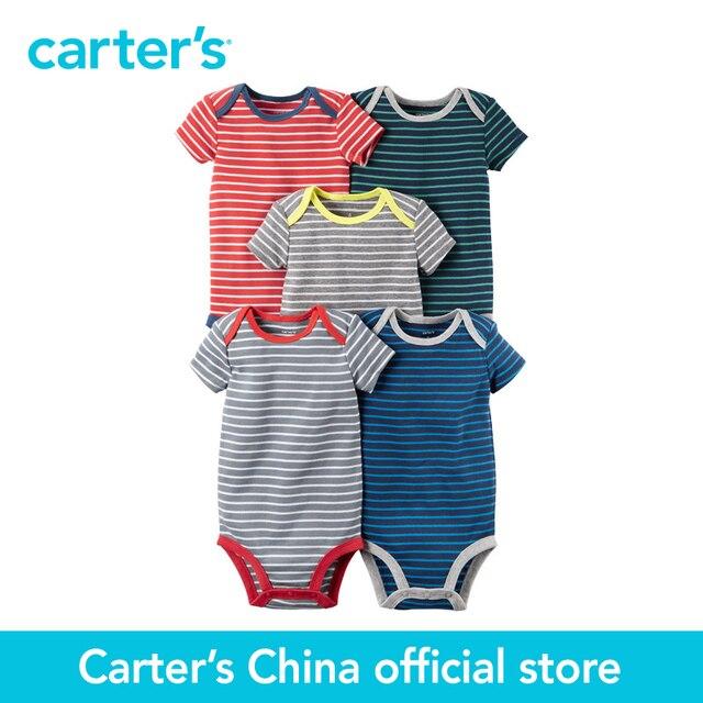 Картера 5 шт. детские дети дети С Коротким Рукавом Боди 126G335, продавец картера Китай официальный магазин
