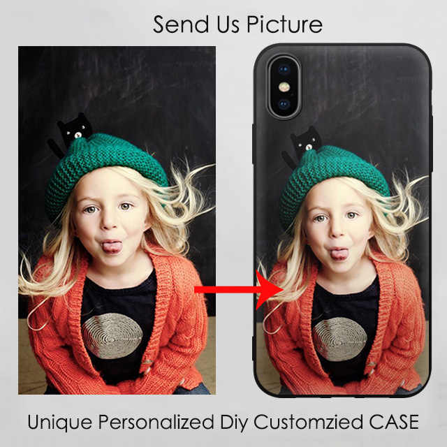EiiMoo Photos Name Customized Phone Cases For iPhone X 8 6S 7 Plus XR 11 XI Max 2019 Case DIY Cover For OnePlus 5T 7 Pro Custom