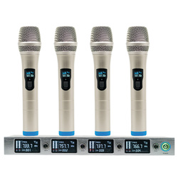 Professional Wireless Microphone System 940T 4-Channel UHF Dynamic Professional 4 Headphones Collar Line Conference