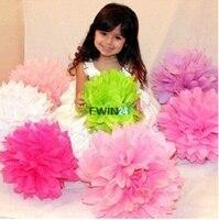 10 x cores sortidas tecido papel Pom Poms flor bola festa de casamento decoração