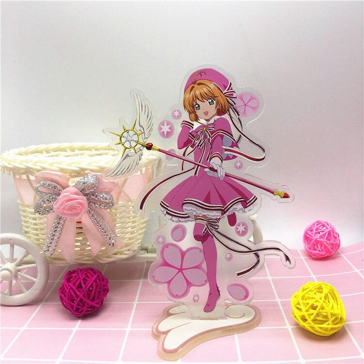 Anime Cardcaptor Sakura Acrylic Stand Model Toys Sakura Action Figure Pendant toy 15cm double-side gift