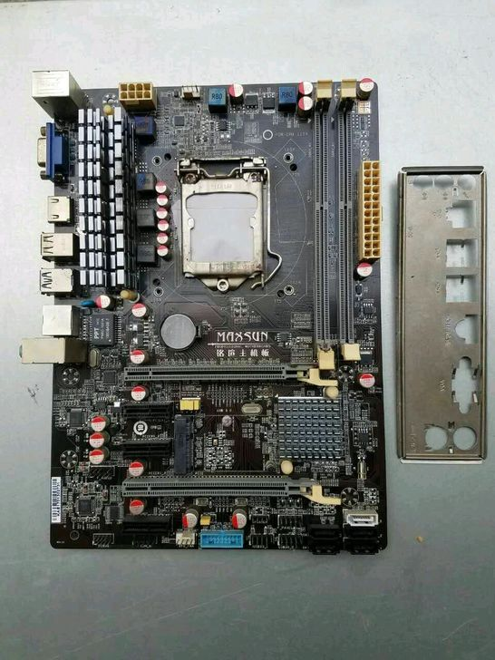 Used,for MAXSUN MS-B85U3 PRO INTEL1150 set the motherboard dual card crossfire H81,100% tested good!
