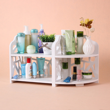 Dormitory desktop cosmetics storage rack bathroom waterproof shelves DIY environmental protection board storage shelf