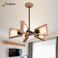 Pendant Lights Lustres Abajur Wood Pendant Lamp Luminaire Hanglamp Colorful Adjustable For Home Lighting Dining Room