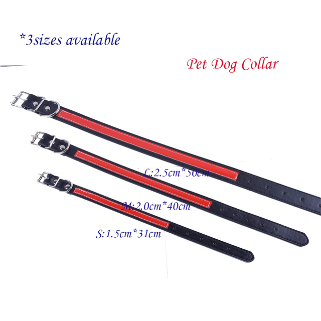 Personalized Design Reflective Dog-Collar Flashing Leather Collars For Dogs Safe Walking Small Pet Products Dog Health Supplies