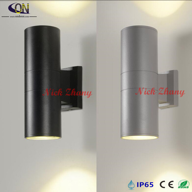 Outdoor Led Wall Light 12w 2x6w Up And Down Porch Lights Modern