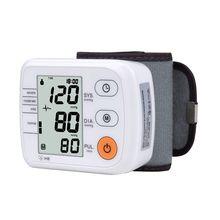 Monitor di Pressione Sanguigna del polso Digitale Automatico Tonometro Meter per Misurare la Pressione Sanguigna E Frequenza del Polso Sfigmomanometri