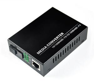 Image 3 - 1 double 10/100M Fast Ethernet media converter, 1 RJ45 1 SFP 25KM Simplex mode optical fiber transceiver