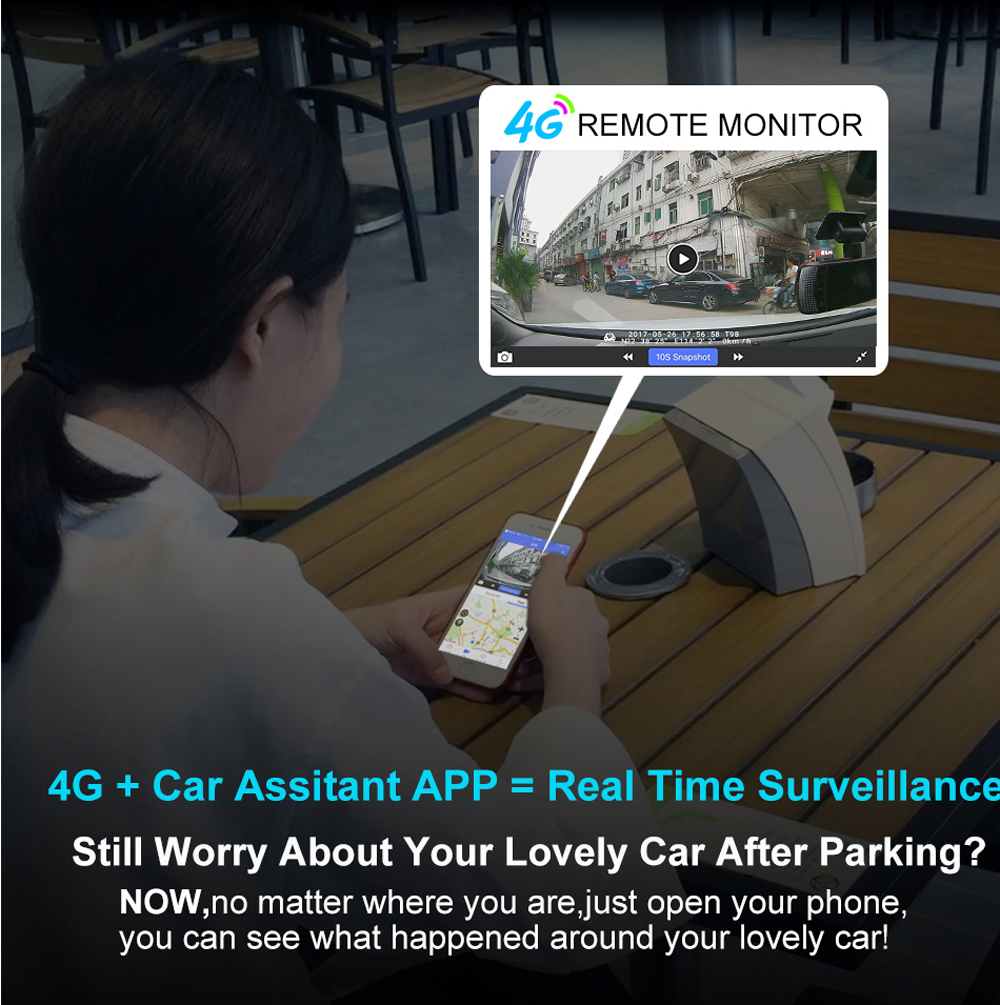 """Zuczug 8"""" 4G Touch IPS Special Car DVR Camera Android Mirror Dash Cam, Bluetooth WIFI, Dual Lens Recorder"""