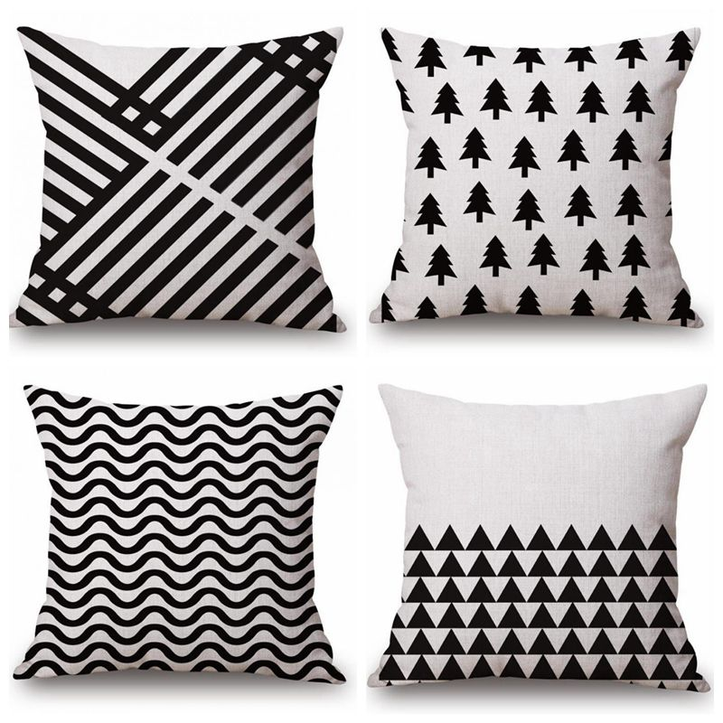 nordic decorative throw pillows case tree geometric cushions cover home decor black white cushion couch cushion cover from home u0026 garden on