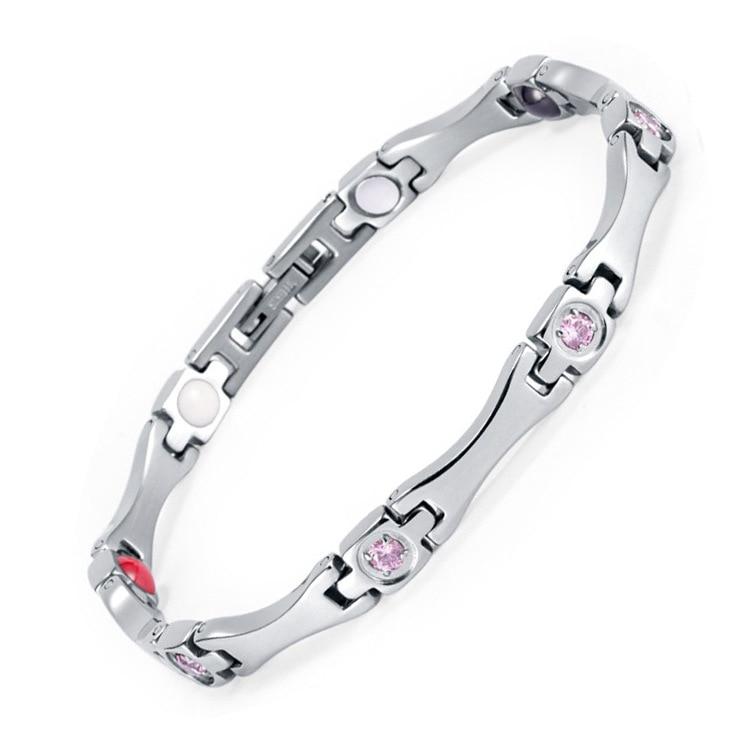 Explosions accessoires strass acier inoxydable aimant bijoux saint valentin strass Bracelet