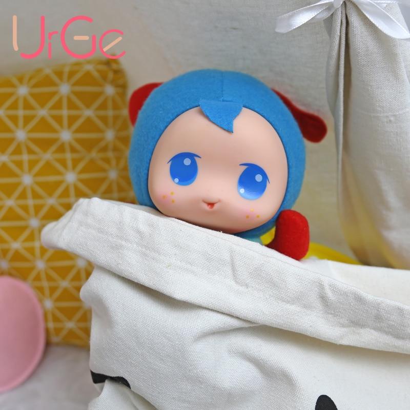 Թեժ մուլտֆիլմ լցոնված և պլյուշ նորաձևության տիկնիկ փափուկ սիլիկոնային դեմքով վերածնված մանկական խաղալիքներ երեխաների համար տիկնիկներ Christmas Gift URGE