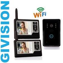 3.5 pouces LCD Sans Fil vidéo porte téléphone système d'interphone 2 moniteurs accueil vidéo interphone sonnette spectateur wifi appartement