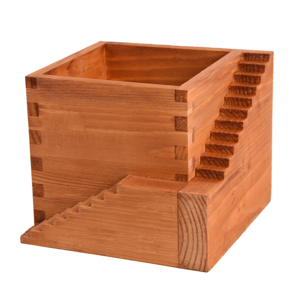Personalized Antique Wooden Table Sundries Container Cosmetics Jewelry Storage Boxes Wooden Stairs Flowerpot Home Decor