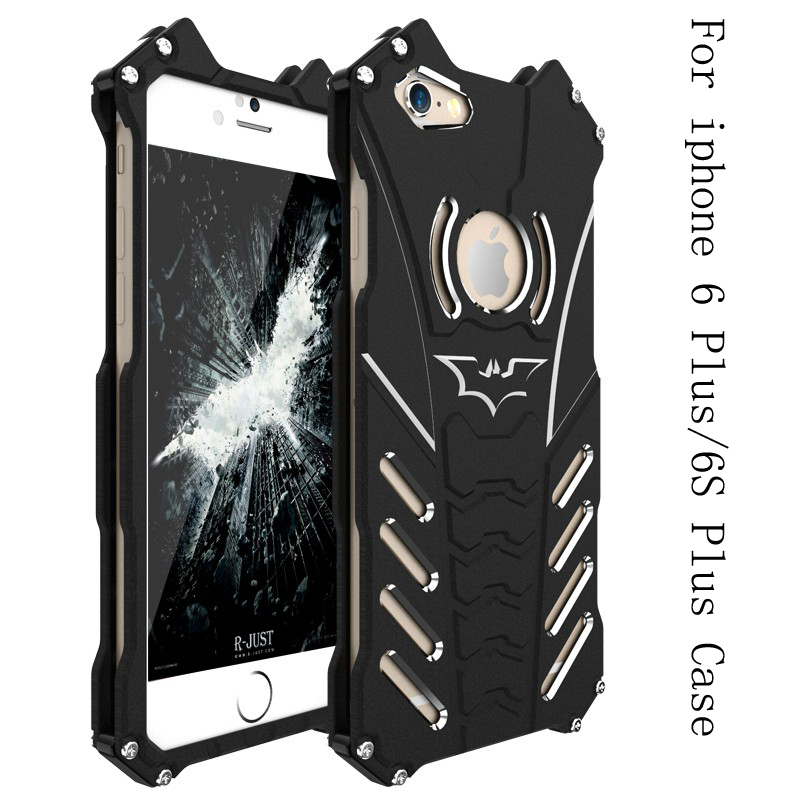 bilder für R-JUST Design Aluminium Metallgehäuse Für Apple iPhone 6 Plus 6 s Plus Luxus Rüstung Heavy Staub Stoßfest Schützen Telefon Shell abdeckung