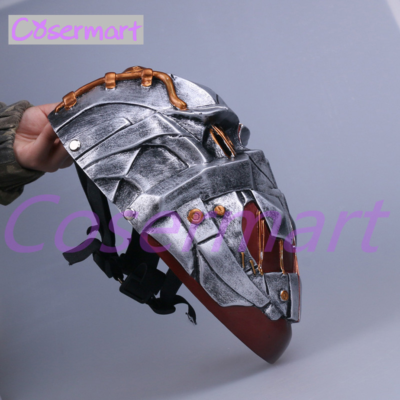 Cos Hot Game Dishonored Helmet Wearable Masks Cosplay Corvo Attano Mask Hard Resin Halloween Party (7)