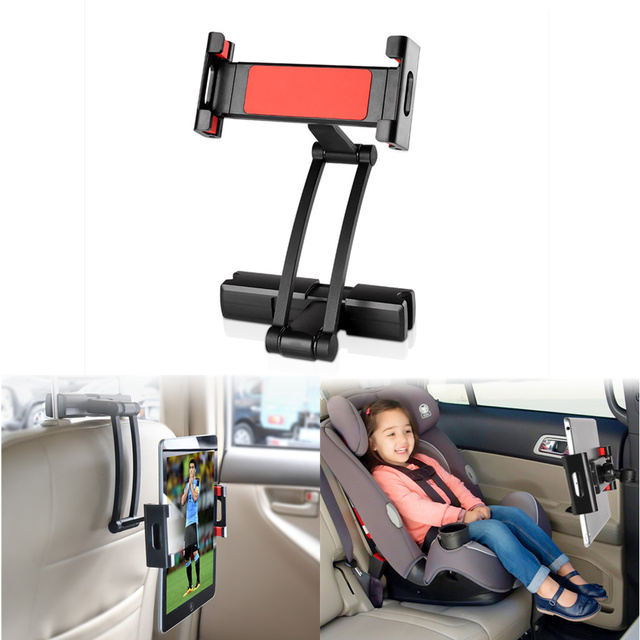 Aluminum Tablet Car Holder For iPad Air Mini 2 3 4 Pro 12.9 Back Seat Headrest 5-13 Inch Tablet Phone Stand for iPhone X XS 8