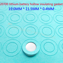 100Pcs 20700 lithium battery, high temperature insulation gasket, hollow flat head surface pad insulating meson 19MM*11.5MM*0.04 100pcs lot 21700 lithium battery high temperature insulation gasket hollow flat head surface pad insulating meson 20 5 11 5 0 4