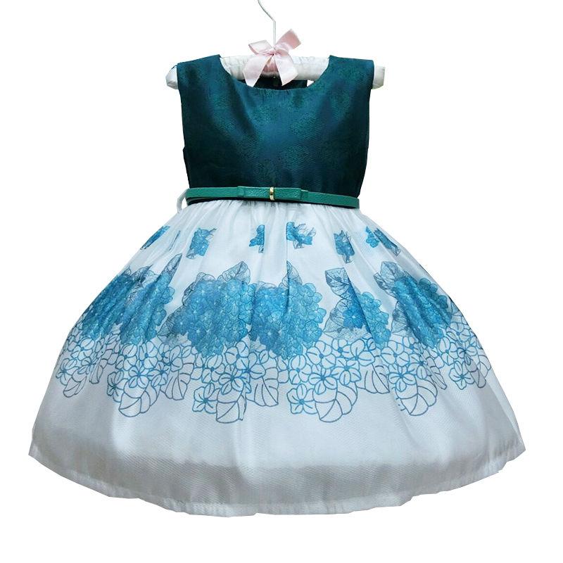 sunmmer style Gowns party dress girl ruffle Princess sleeveless Wedding customs toddler bebe flower