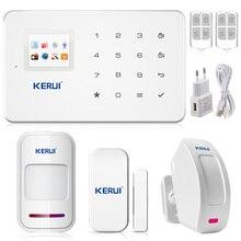 Kerui telefone android ios app controle gsm alarme de segurança sistemas de alarme home office casa anti-roubo alarmes para casa sistema