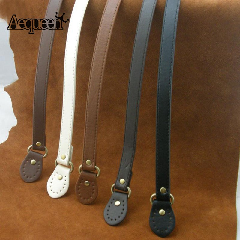 AEQUEEN 60CM Bag Strap PU Leather Bag Straps For DIY Replacement Handbag Strap Accessories Parts Bag Handle Bands Shoulder Belt imido 64cm leather handbag belt bag short strap wide shoulder bag strap replacement flower accessory parts brand design stp035