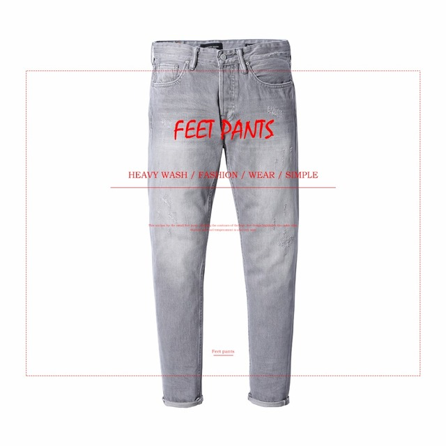 SIMWOOD New Arrive Brand Jeans Men 2018 Casual Slim Fit Ripped Jeans Skinny Fashion Denim Trousers Male High Quality 180240
