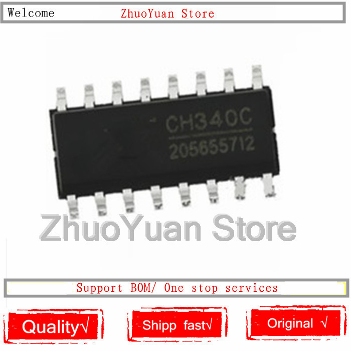 10PCS/lot CH340C CH340 SOP-16 100% New Original IC Chip