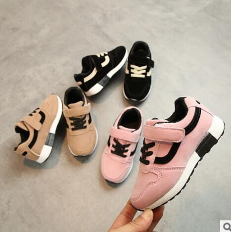 Child Casual Sport Shoes Baby Boys Girls Soft Bottom Sneakers Kids Lace up Leather Running Shoes