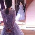 Модест сирень кружева органза бальные платья аппликации бусины блесток длинные вечерние платья лодка шеи старинные вечерние платья на заказ