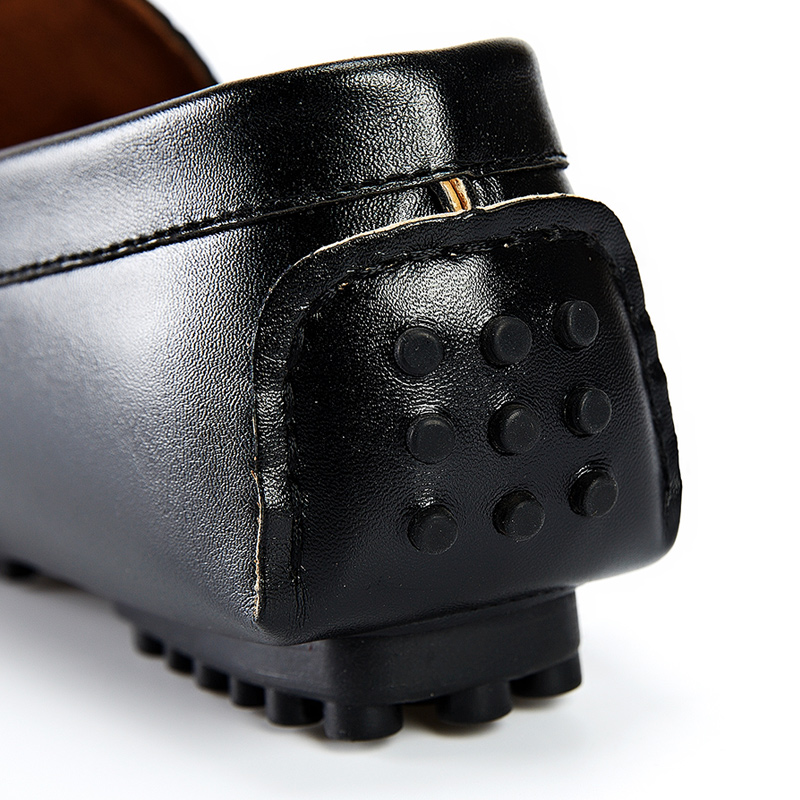 De Couro red Preguiçosos Casuais On Condução Relevo Em Black Sapatos Slip Homens Gommino Flats blue aBwpB
