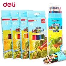 Купить онлайн Балык 12/18/24/36 Цветные карандаши натурального дерева Цветные карандаши набор для рисования Карандаши для школы художник живопись Эскиз поставки