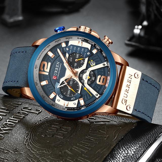 CURREN Luxury Brand Men Analog Leather Sports Watches Men's Army Military Watch Male Date Quartz Clock Relogio Masculino 2019 3