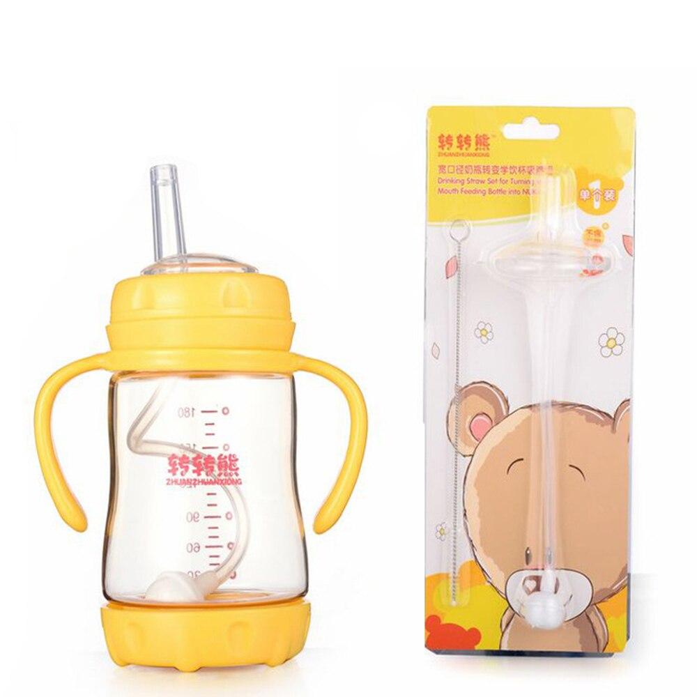 Wide Nuk Nipple Bottle Straw Sucker Water Accessories Baby Childern Kids