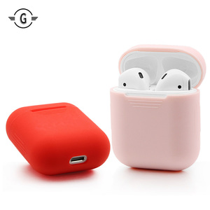 Image 2 - Soft Silicone Skin Case for Apple Airpods charging Case Airpod Protective Cover Sleeve pouch Shockproof coque fundas wholesale