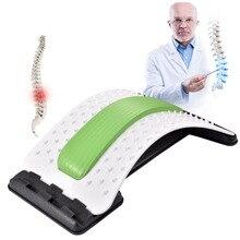 Массажер для спины, носилки, набор для акупунктуры, скамейки, 4 уровня, регулируемый, портативный, поясничный, облегчение боли для нижней и верхней части спины