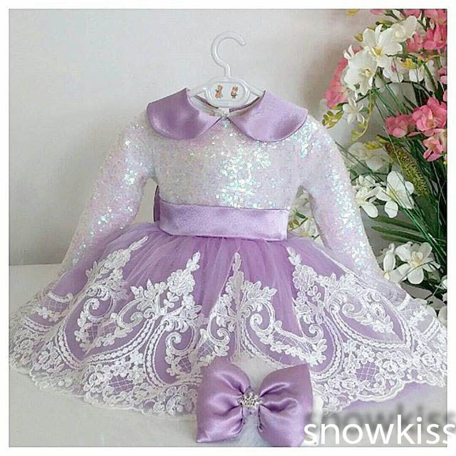 Light purple Long Sleeves Lace flower girl dresses violet Baby Birthday Party Dress ball gown toddler princess pageant outfit dual blades stainless steel pull type pocket cigar cutter knife silver grey