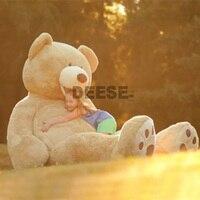 340 см супер большой плюшевый мишка кожи Мягкие плюшевые игрушки без ПП хлопка огромное чучело медведя Игрушечные лошадки прижаться медведь