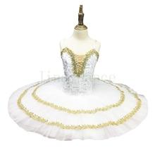 Ballerina Stage Tutu Dress Adult White Platter Women Sugar Plum Fairy Professional Costume Blue bird