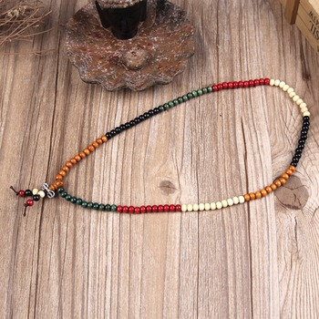 EVBEA Easter Variety of Sandalwood Tibetan Buddhist Prayer Beads Bracelets Buddha Mala Rosary Wooden Charm Bracelet Bangle Jewel 4