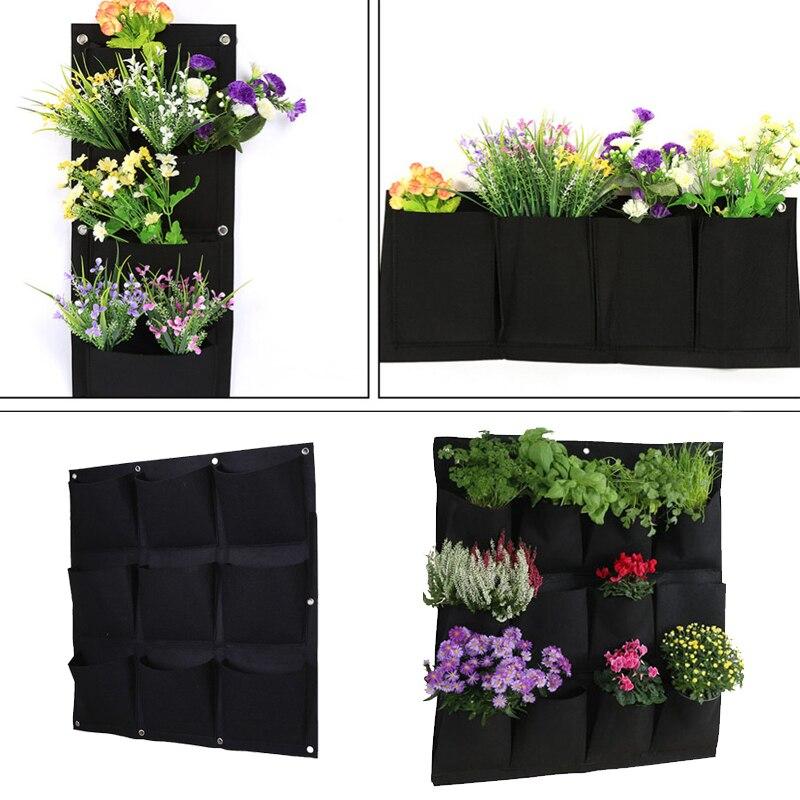 72 Pocket Wall Hanging Planting Bag Vertical Flower Grow Pouch Planter Garden